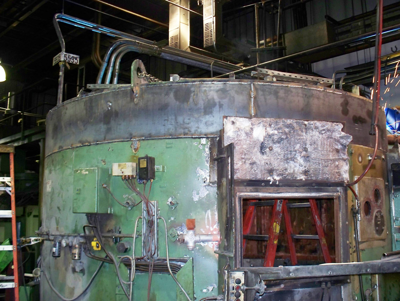 Rotary Hearth Furnace Before Rebuild